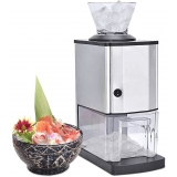 XSBBY Ice Crusher,Crusher Electric Ice Breaker,for Making Snow Cones, Blending Slushie, Cocktail, Frappe, Iced Tea and Coffee Etc,12Kg/Hour for Household & Commercial Use - 220v