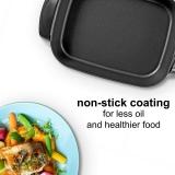 7L Deep Electric Skillet Pan Non Stick Multi Purpose Cooker Stew Pot Frying Bake - 220v UK/UAE