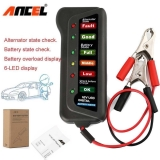 Ancel BST100 12V Battery Analyzer Digital Car Battery Tester Battery Load Tester