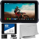"Atomos Ninja V 5"" 4K HDMI Recording Monitor with SSDmini (2 TB) Bundle – Includes: WD Blue SSDmini (2TB) + Microfiber Cleaning Cloth + Accessory Kit for Shinobi, Shinobi SDI"
