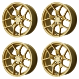 "4x Motegi 17x8.5 MR133 Wheels Gold 5x112 PCD +45mm Offset 6.52""BS"